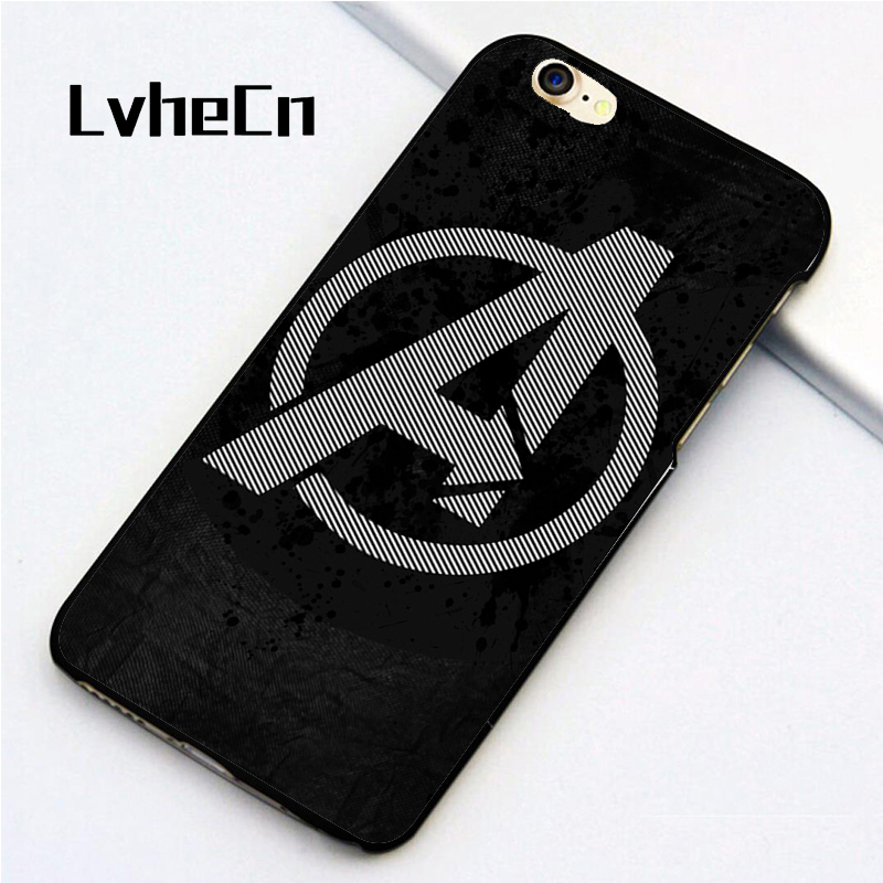 LvheCn 5 5S SE phone cover cases for iphone 6 6S 7 8 Plus X back skin shell Avengers Logo Superhero Team Marvel Comics marvel glass iphone case