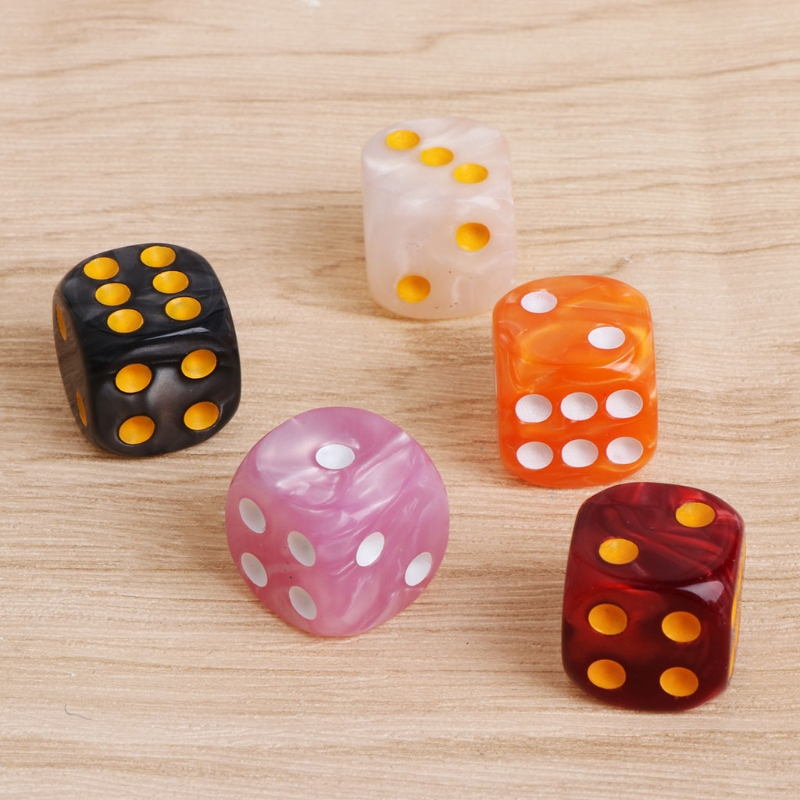 10pcs/Set Acrylic Polyhedral Dice For TRPG Board Game Dungeons And Dragons ...