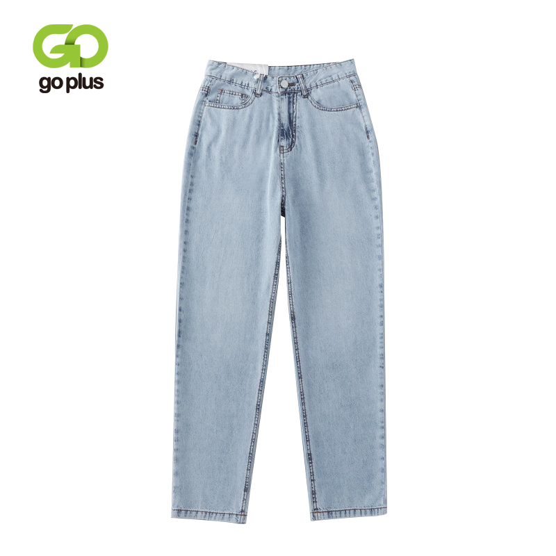 GOPLUS New Vintage Boyfriends Jeans Women Plus Size High Waist Harem Denim Pants Trousers Chic Mom Loose Pants Retro Jeans C8967(China)