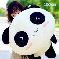 Lovely 1pcs Big Size 100cm Panda To Lie Prone Bear Stuffered Plush Stuffed Animals For Baby Girls Kids Lover Best Gift