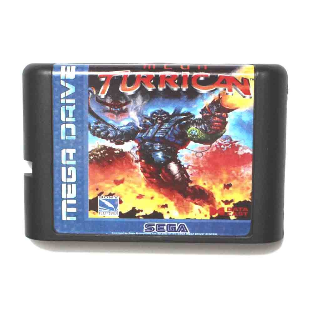 Mega Turrican 16 bit MD Game Card For Sega Mega Drive For Genesis