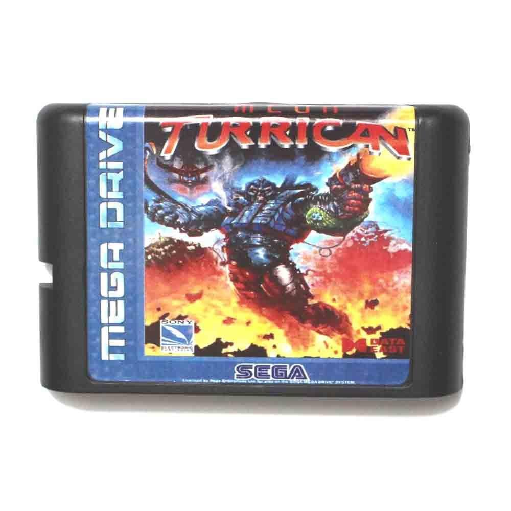Mega Turrican 16 bit MD Game Card For Sega Mega Drive For Genesis