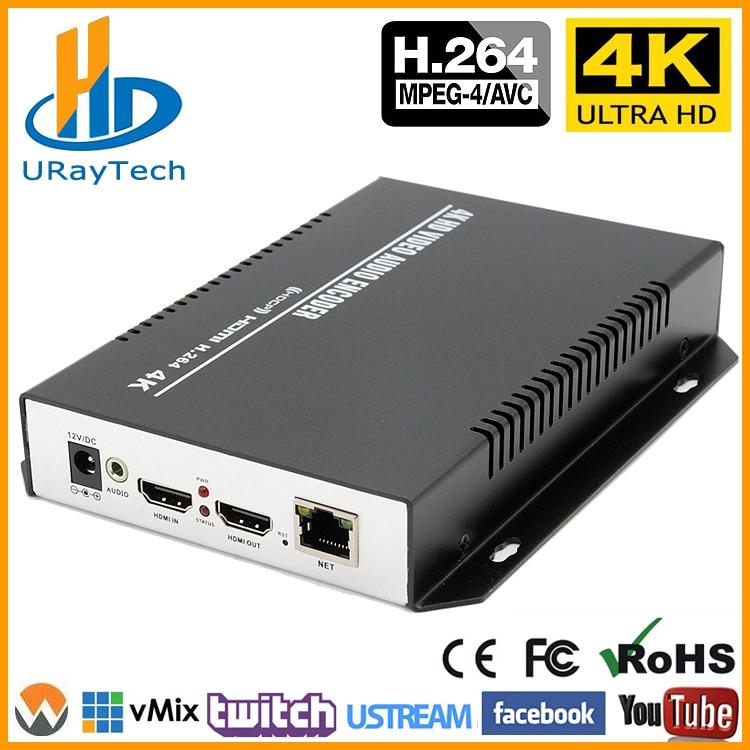 MPEG4 H 264 4K HDMI IP Video Streaming Encoder IPTV Encoder H264 RTMP Live  Stream Encoder HDMI To RTSP UDP Multicast HLS ONVIF