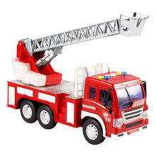 New Mini Fire Truck Model Alloy Vehicle Truck Toy Children Gift Model Control Ladder Truck Rescue Car Toy Model Kids Gifts children inertia toy car simulator ladder truck firetruck