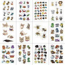 HXMAN 12 PCS/lot Cartoon Temporary Tattoo Sticker for Women Men Body Art Children Kids Waterproof Hand Fake Tatoo 9.8X6cm W12-27