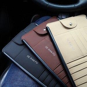 Image 5 - Tefanball автомобильный кожаный многофункциональный CD ящик для хранения автомобиля солнцезащитный козырек CD чехол для DVD Чехол для очков Папка Бизнес держатель для карт CD сумка