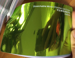 Image 4 - Neue Ankunft Hohe dehnbar spiegel licht green Chrom Spiegel flexible Vinyl Wrap Blatt Rolle Film Auto Aufkleber Aufkleber Blatt