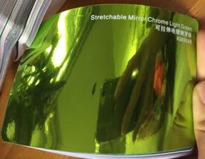 Image 4 - New Arrival High stretchable mirror light green Chrome Mirror flexible Vinyl Wrap Sheet Roll Film Car Sticker Decal Sheet