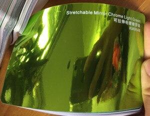 Image 4 - Nueva llegada alta espejo extensible luz verde cromo espejo flexible vinilo envoltura hoja rollo película coche pegatina hoja
