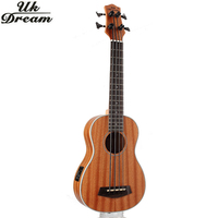 30 Inch Full Sapele Vintage Wooden Guitar Musical Instruments Retro Closed Knob Ukulele Small Guitar Classic