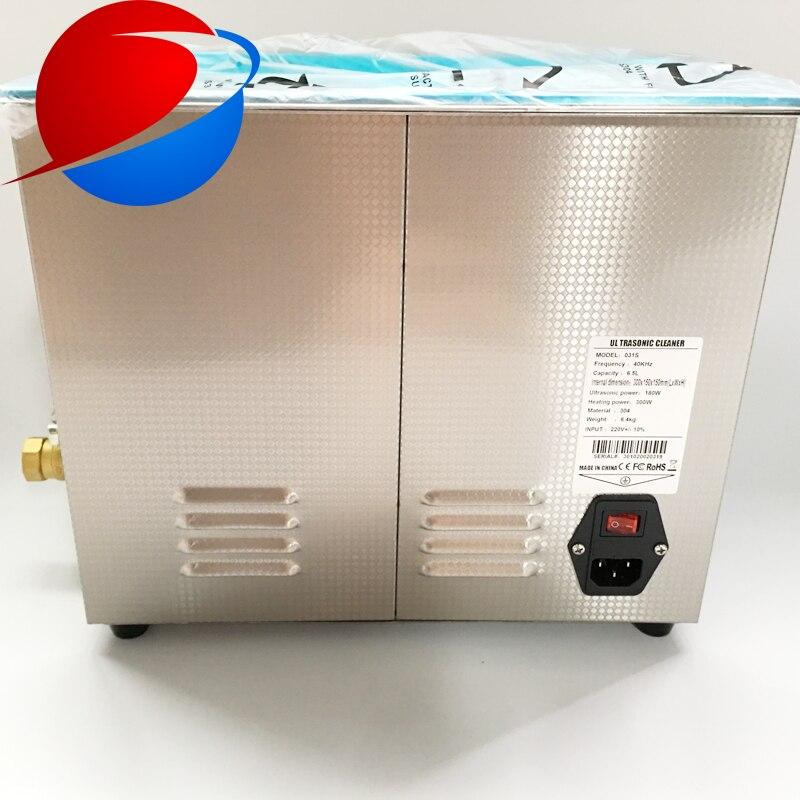 Le décapant ultrasonique numérique de 6.5L enlève rapidement la particule résiduelle avec les transducteurs industriels