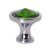 10pcs Diamond Shape Crystal Glass Cabinet Knob Cupboard Drawer Pull Handle for Cupboard Kitchen and Bathroom Cabinets Shutters