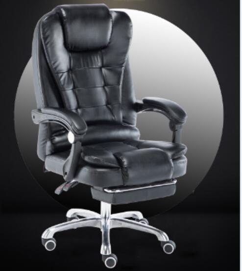 Swell Us 99 0 Louis Luxury High Back Executive Faux Leather Office Chair Swivel Recliner And Footstool Computer Boss Chair Black In Living Room Chairs Alphanode Cool Chair Designs And Ideas Alphanodeonline