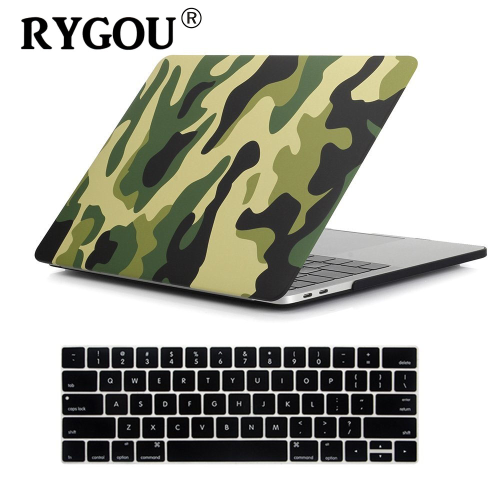 "Camouflage Pattern Matte Hard Case for Macbook Pro 13 15 with touch bar 2016 2017 2018 Laptop Case For New Mac book Pro 13.3""-in Laptop Bags & Cases from Computer & Office"