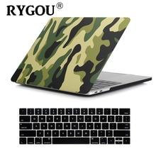 """Kamuflaj desen mat Hard Case için Macbook Pro 13 15 dokunmatik bar ile 2016 2017 2018 Laptop çantası için yeni macbook Pro 13.3"""""""