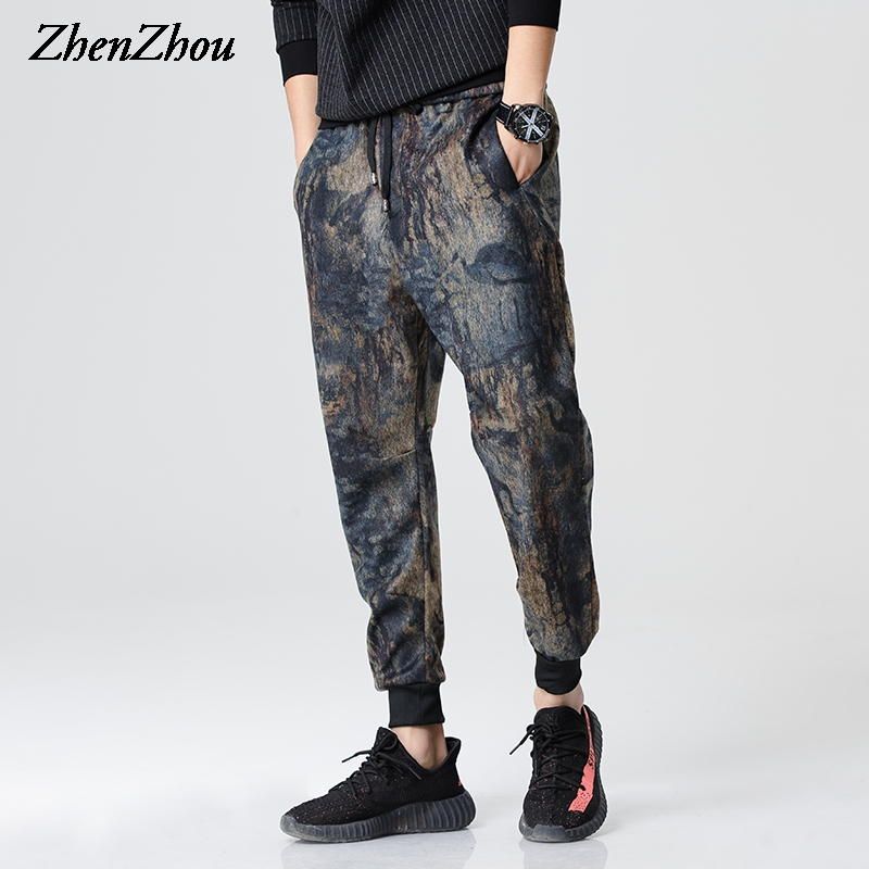 ZhenZhou M-2XL 3XL 2017 Retro Floral Casual Spring Harem Pants Men Fashion Casual Men Pants Mens Joggers Pant Pantalones Hombre