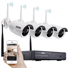 Zosi 1,3-мегапиксельная подключи и играй беспроводной nvr комплект p2p 960 P/720 P HD Открытый ИК Ночного Видения Безопасности IP WIFI Камеры ВИДЕОНАБЛЮДЕНИЯ система