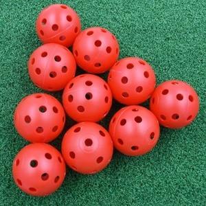 Image 4 - 20pcs/lot 41mm Golf Training Balls Plastic Airflow Hollow with Hole Golf Balls Outdoor Golf Practice Balls