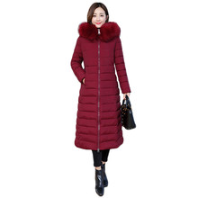 Winter Coat Women Black Pink Gray M-4XL Plus Size Thick Feather Hooded Parka 2019 New Korean Fashion Long Mom Down Jacket LD1089 стоимость