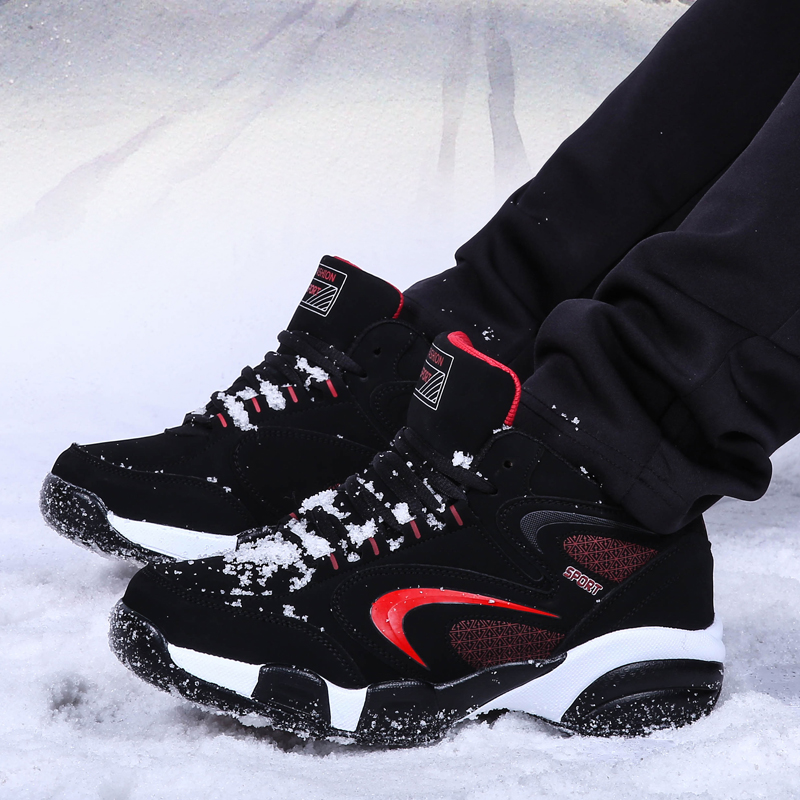 Large Size Men Women Sneakers Winter Running Sport Shoes With Fur Warm Sneakers for Men Big Size Athletic Shoes Black Trainers 2016 new winter men s casual shoes boat shoes for men black brown fur shoes lazy autumn large size shoes warm men in stock