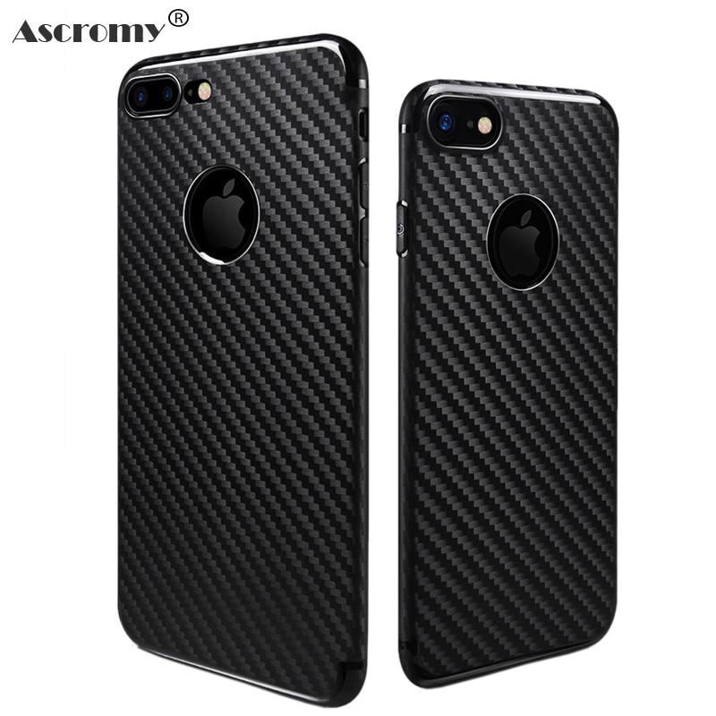 Ascromy Caso Suave TPU Casos de Silicona para el iphone 6 s iPhone 6 S Plus Caso