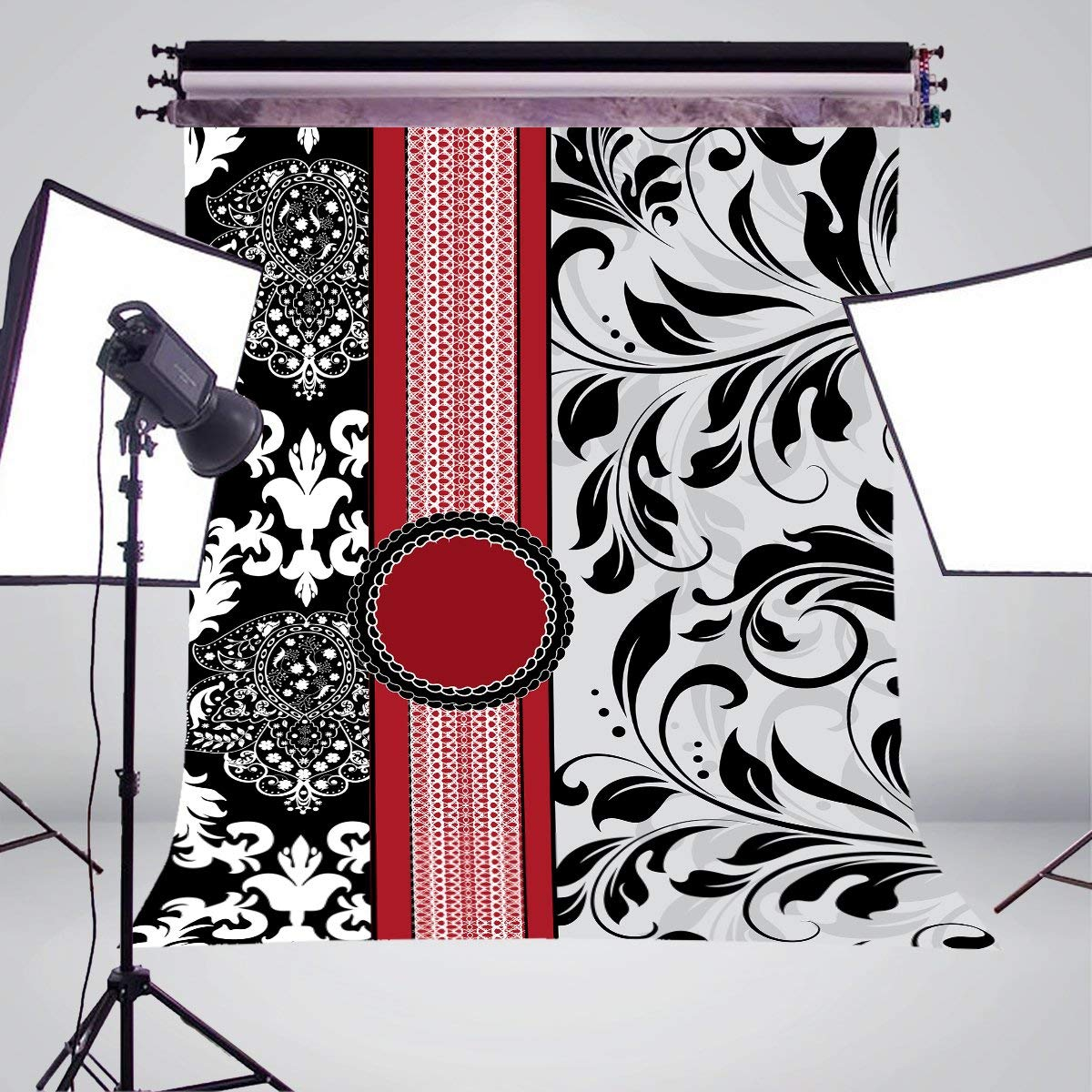 Image 3 - Classic European Pattern Photography Backdrop Flower Shape photo studio backgound 5x7ft Classical mural wall backdrops-in Photo Studio Accessories from Consumer Electronics