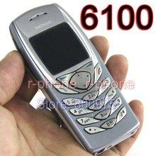 Мобильный телефон NOKIA 6100, разблокированный мобильный телефон GSM Triband, Восстановленный 6100 мобильный телефон, дешевый телефон