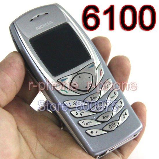Original NOKIA 6100 Điện Thoại Di Động Điện Thoại Di Động Unlocked GSM Băng Tần Tân Trang Lại 6100 Điện Thoại Di Động Điện Thoại Giá Rẻ