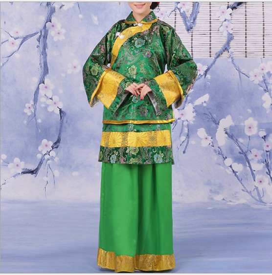 6 Color Chinese Ancient Traditional Lady's (Woman Matchmaker) Dramaturgic Costume Robe Dress Performance Dance Costumes