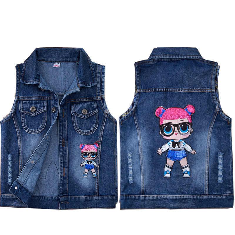 Детский жилет с Микки-пауком и Минни, жилет, джинсовая куртка для мальчиков и девочек, жилет, детский хлопковый жилет с героями мультфильмов на весну и осень
