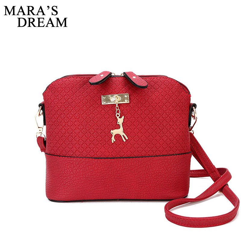 Mara's Dream 2017 Women Messenger Bags Fashion Bag With Deer Toy Shell Shape Bag Women Shoulder Crossbody Bags Free Shipping fashion women mini messenger bag pu leather shell shape bag crossbody shoulder bags with deer toy popular