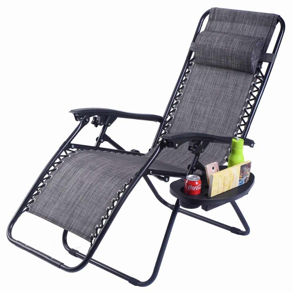 Astounding Guplus Folding Zero Gravity Chair Outdoor Picnic Camping Sunbath Beach Chair With Utility Tray Reclining Lounge Chairs Op3026 Forskolin Free Trial Chair Design Images Forskolin Free Trialorg