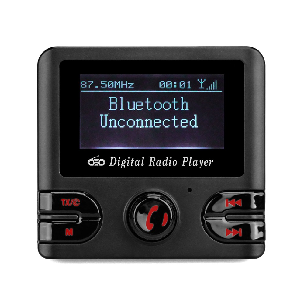 Car DAB+ Digital Radio with FM Transmitter Bluetooth Hands-free TF Card Player Included Antenna Y4437A 5 resistive screen wince 6 0 gps navigator w fm transmitter tf 4gb brazil map black red