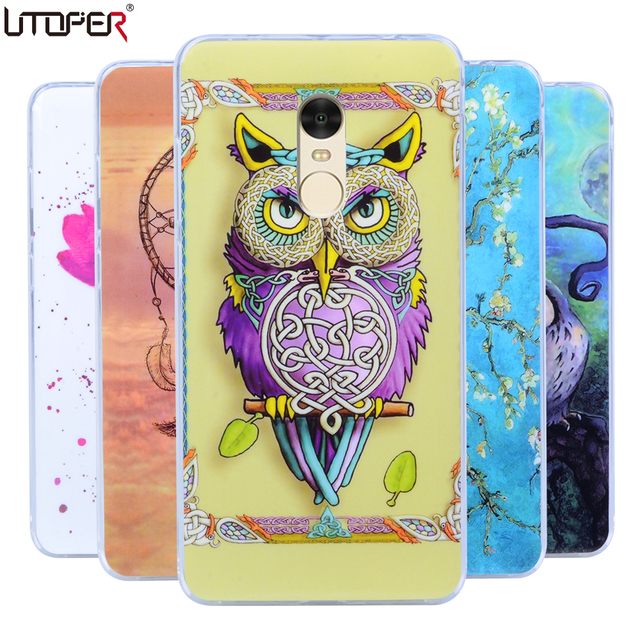 AXBETY Coque For Xiaomi redmi Note 4 Case Cover Tribe Owl Cartoon Rubber TPU Silicone Case For Xiomi redmi Note 4 Note4 Case