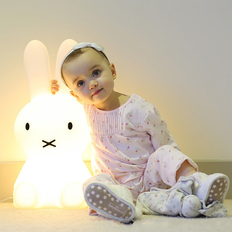 Children's Animal Cartoon 50CM Brown Bear 80CM Rabbit LED Night Light Child Christmas Gift Home Decoration Dimmable Table Lamp beiaidi 7 color usb rechargeable rabbit led night light dimmable animal cartoon light with remote baby kids christmas gift lamp