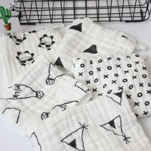 (Baby towel 5pcs) 6 layers muslin cotton baby wipe towel 25x25cm absorbent and soft baby handkerchief for baby girls boys(China)