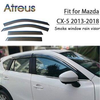Atreus 1set ABS Rain Smoke Window Visor Car Wind Deflector For Mazda CX-5 2013 2014 2015 2016 2017 2018 Accessories
