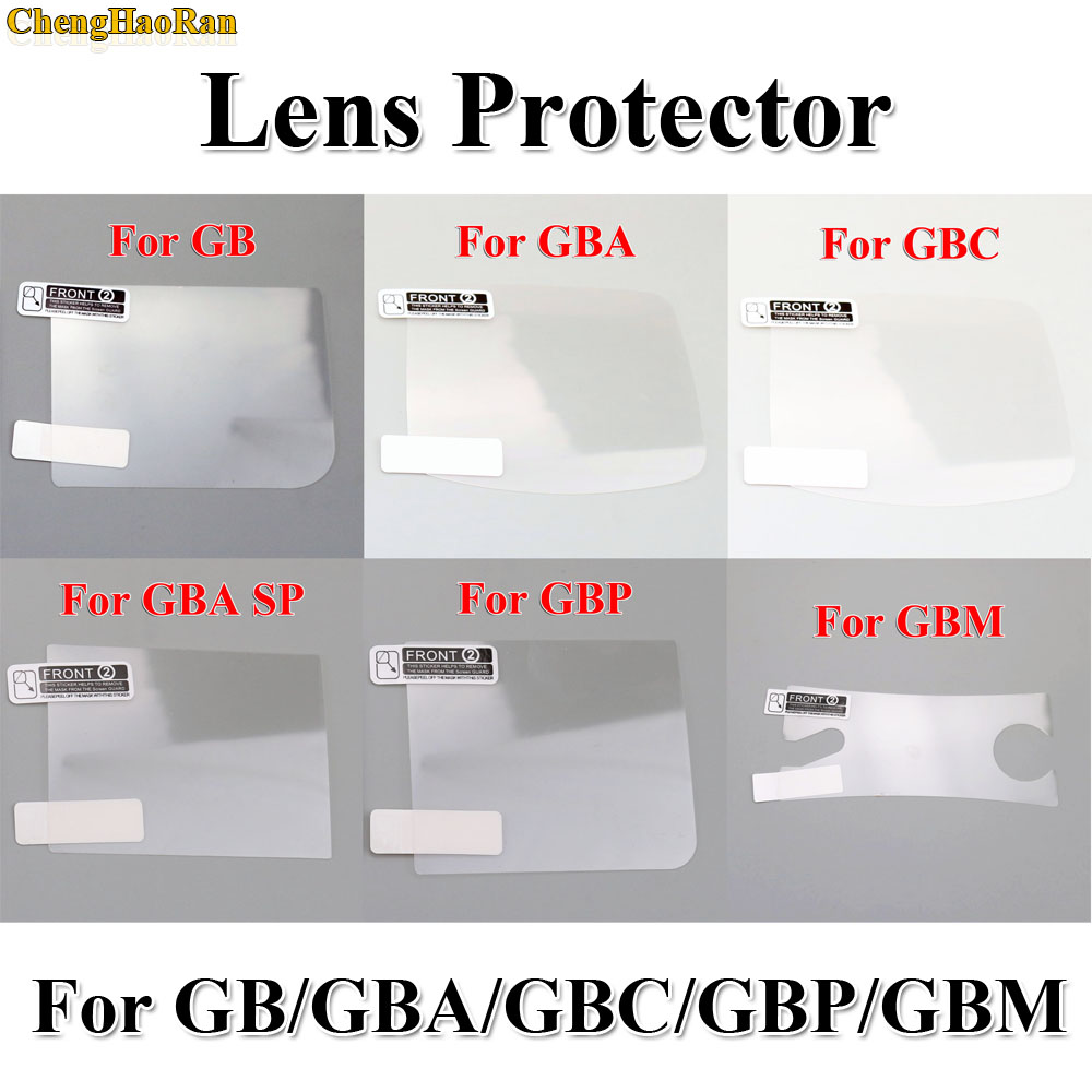 ChengHaoRan 6PCS/LOT LCD Screen Protector Protective Film for Gameboy Color for GBA GBA SP GBC GB GBP for GBM Console-in Replacement Parts & Accessories from Consumer Electronics
