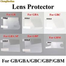 ChengHaoRan Protector de pantalla LCD para Gameboy, 6 unids/lote, película protectora para GBA SP GBC GB GBP para consola GBM