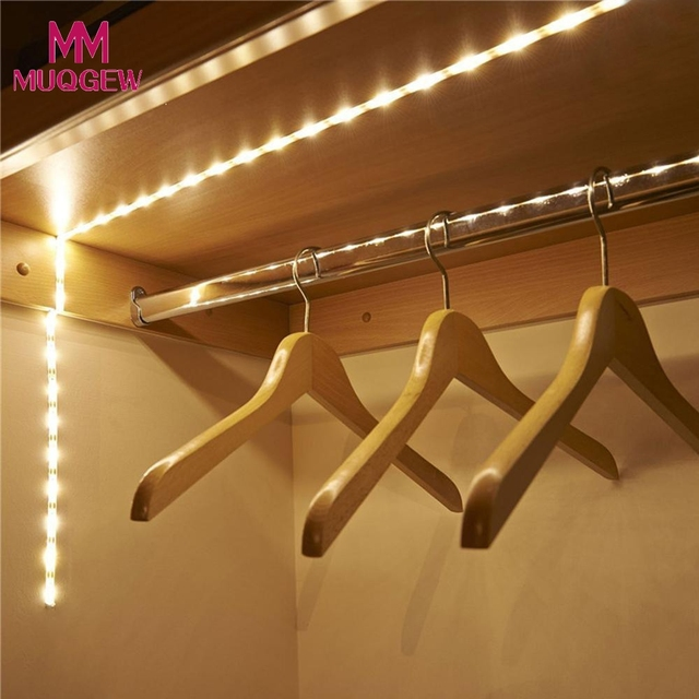 Diy led strip light wireless new battery operated led strip light diy led strip light wireless new battery operated led strip light wireless pir motion sensor wardrobe aloadofball Images