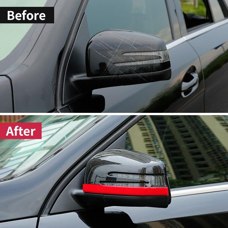 Voiture style rétroviseur coque en fibre de carbone motif autocollants voiture miroir couverture pour Mercedes benz ML GL GLS W166 GLE coupe