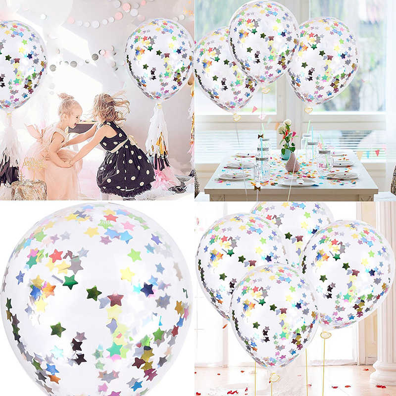 Gold Foil Confetti Transparent Balloons Gold Foil Confetti Latex Balloon Party Wedding Birthday Balloons Baby Shower Decoration