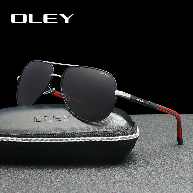 OLEY Men Sonnenbrillen Alu-Magnesium-Polarisationsgläser Fashion Classic Pilot Summer Protection Sonnenbrillen Goggles UV400