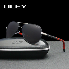 OLEY Men sunglasses Aluminum magnesium polarized pilot glass