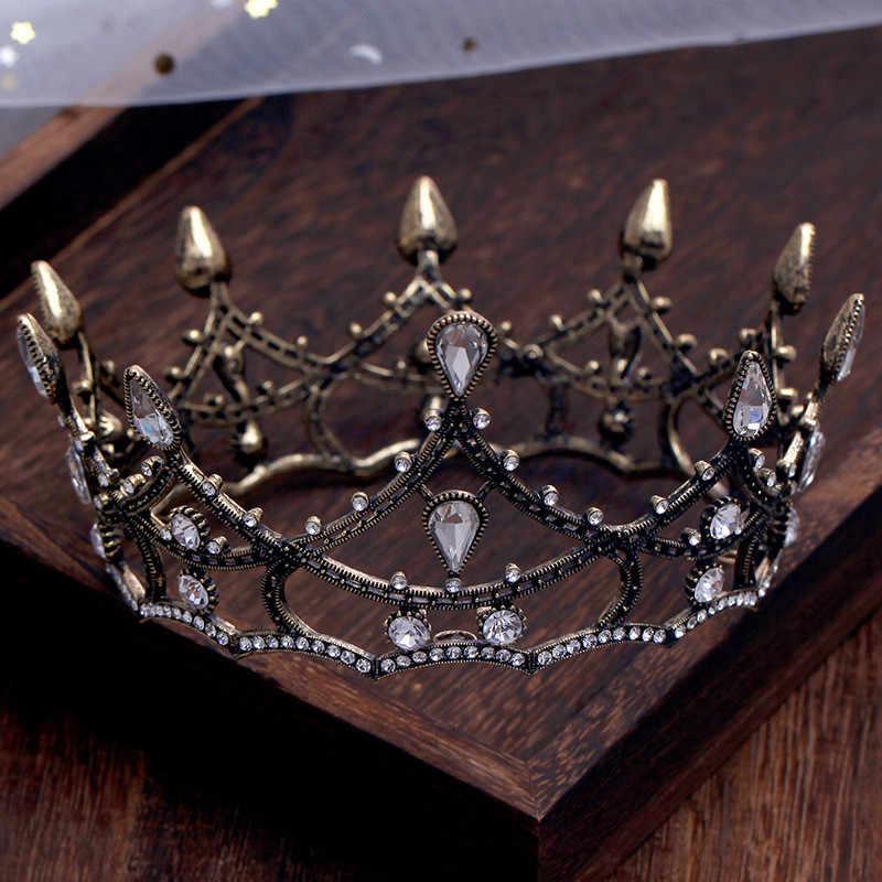 CC งานแต่งงานเครื่องประดับมงกุฎ tiara hairbands น้ำ drop หมั้นอุปกรณ์เสริมผมสำหรับเจ้าสาวสไตล์บาร็อคประกวดของขวัญ XY320
