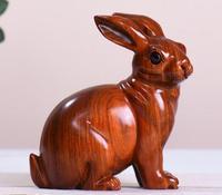 Хризантема Груша кролик желтый украшение Настоящее Дерево Мато успех палисандр груша резьба Зодиак кролик настоящая скульптура ручной раб