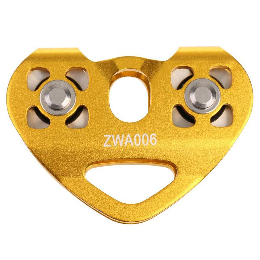 New Style 30KN Pulley Tandem Pulley Tandem Pulley For 8-13mm Ropes Double Axis
