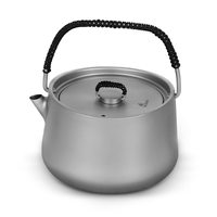 1.0L Portable Camping Pot Pan Kettle Ultralight Titanium Kettle Outdoor Tableware Cookware Teapot Cooking Tool for Picnic BBQ