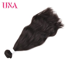 UNA Indian Hair Bundles 1 pieza paquete Natural Indian Wave Non-Remy pelo trama cabello humano armadura paquetes 8-26 pulgadas