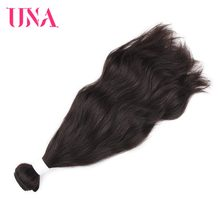 UNA Indian Hair Bundles 1 Piece Pack Natural Hair Indian Natural Wave Non-Remy Hair Weft Human Hair Weave Bundles 8-26 inches(China)